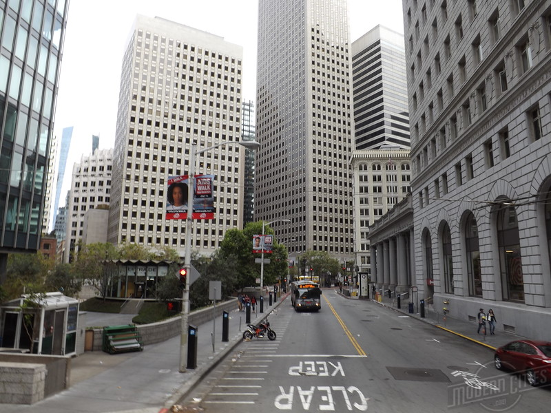 Looking down Sansome from Bush.