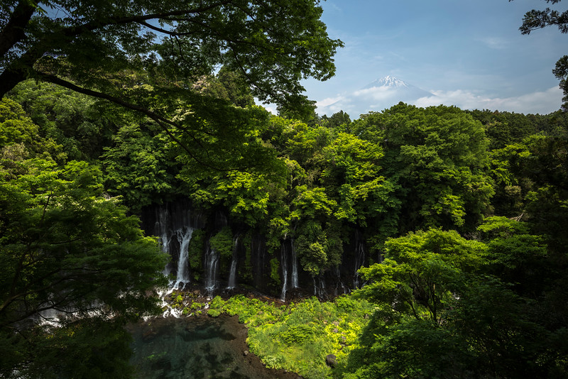 Shiraito Falls & Mt. Fuji
