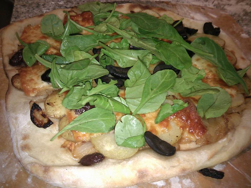 Home Made - Potato and Caramelized Onion Pizza