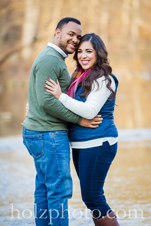 Brianna & Lonnie Color Engagement Photos
