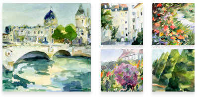 French Paintings Wall Art by Beverly Brown
