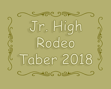 Jr High School Rodeo Taber 2018