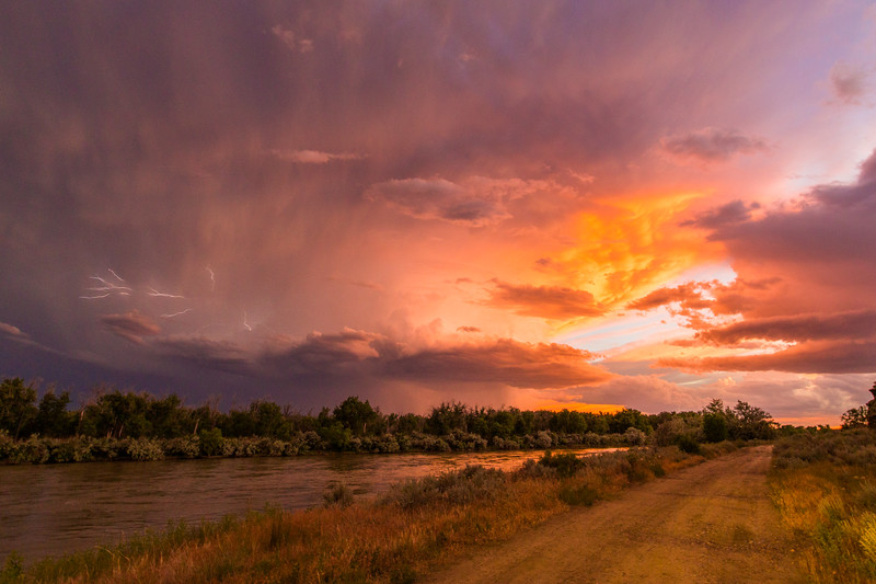 Thunderstorm in Rosebud Co with the Yellowstone River in the Foreground