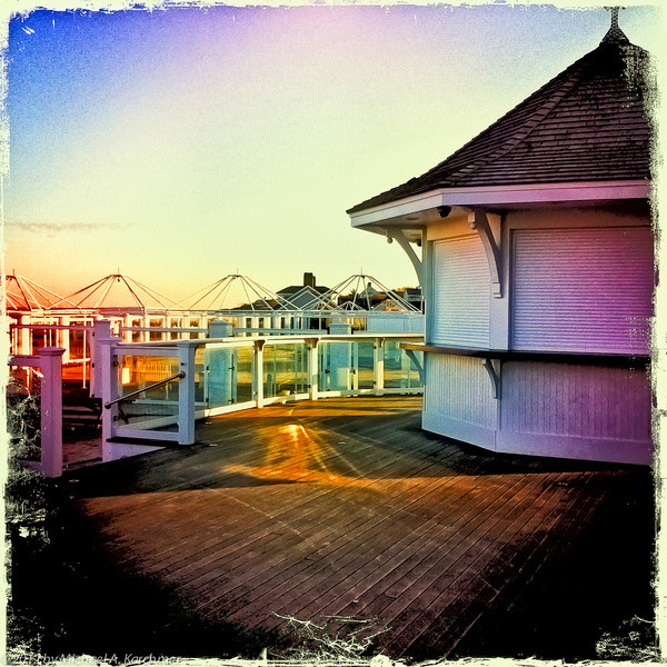 Shuttered Resort in Winter, Chatham, 2012 (iPhone 4 Hipstamatic) [Michael A. Karchmer]