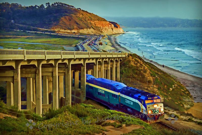 Train at Torrey Pines Beach
