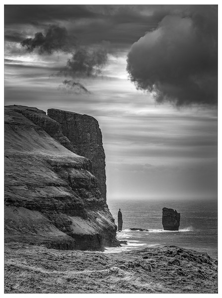 Faroe Coast 26     Black and White Photography by Wayne Heim