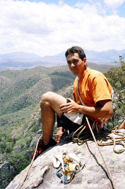 Trent on a belay at Mt Stuart Townsville