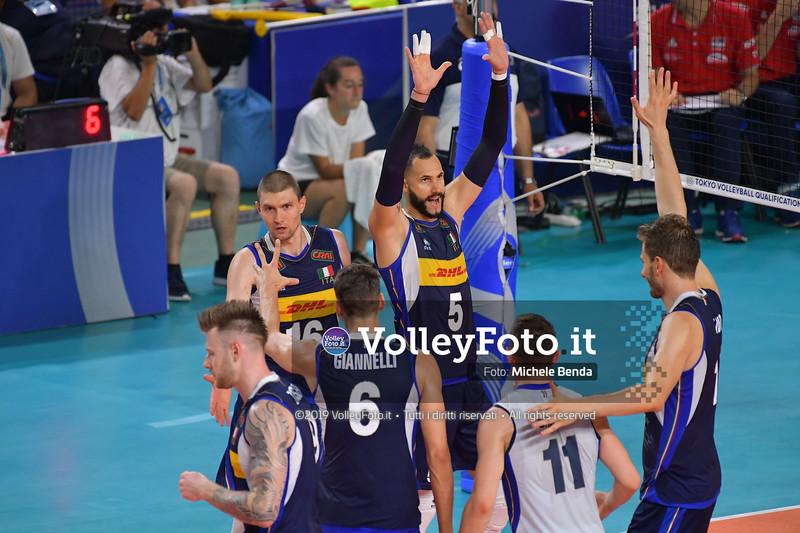 ITALIA vs SERBIA, 2019 FIVB Intercontinental Olympic Qualification Tournament - Men's Pool C IT, 11 agosto 2019. Foto: Michele Benda per VolleyFoto.it [riferimento file: 2019-08-11/ND5_7115]
