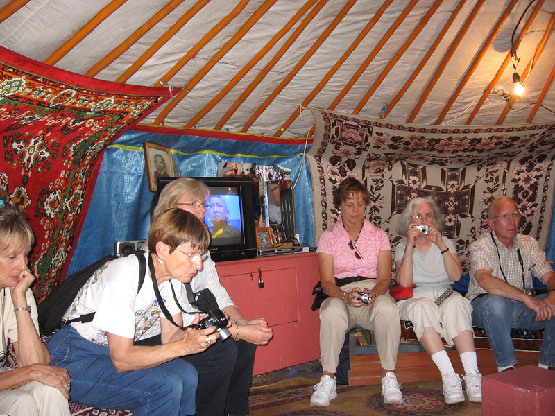 Inside a family's yurt on National Park land - Leslie Rowley