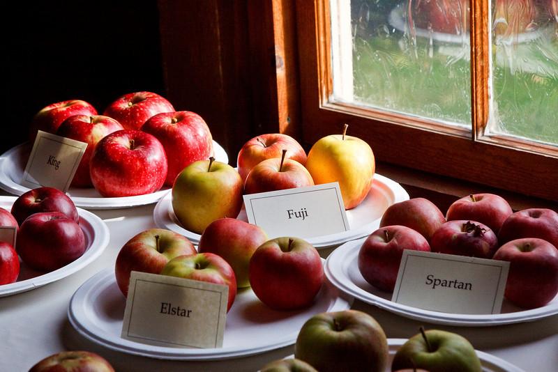 Apple display at the Marsh-Billings-Rockerfeller NHP