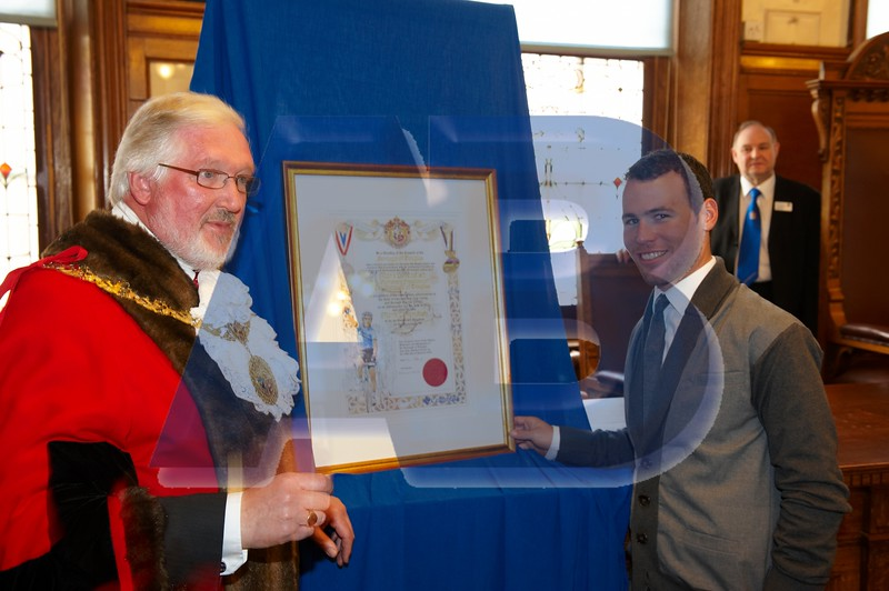 Douglas Council  Mark Cavendish Freeman of the Borough