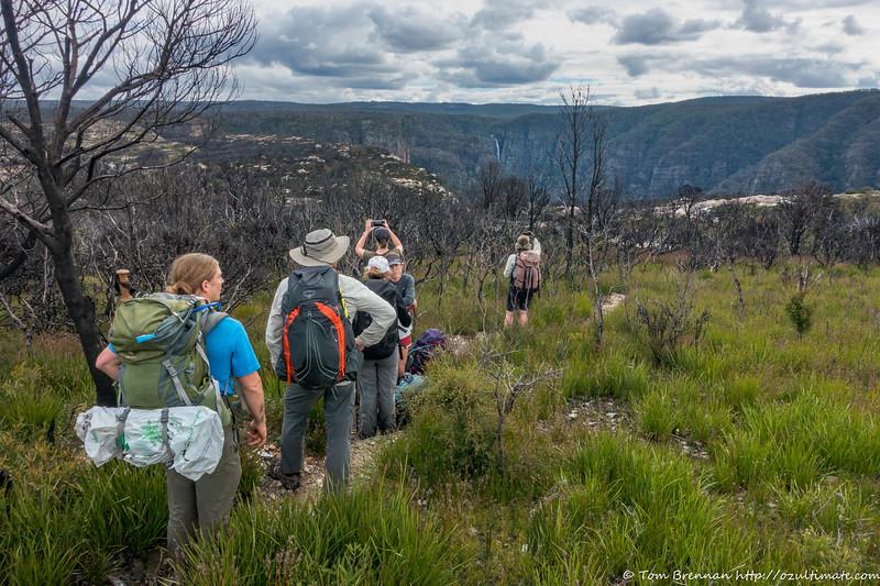 Approaching the plateau - Kanangra Falls as the backdrop