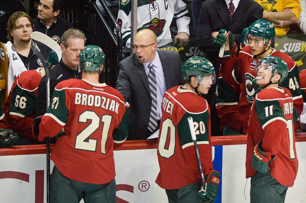 """. <p>7. (tie) MINNESOTA WILD <p>Not much has changed, but the guy behind the bench will be.   <p><b><a href=\'http://www.twincities.com/sports/ci_24837562/tom-powers-wilds-win-buys-mike-yeo-another\' target=\""""_blank\""""> HUH?</a></b> <p>    (Pioneer Press: Ben Garvin)"""