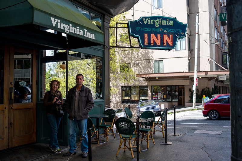 George and Ally at the Virginia Inn for lunch.