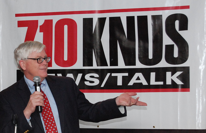 This was tricky because I had to use a flash, and the sign is both uneven and reflective.  I bounced the flash off the ceiling, and picked an angle to minimize the reflection.  The sign puts Hugh Hewitt into context.  His show is on 710 KNUS, and I wanted to emphasize the brand. DSC_0942