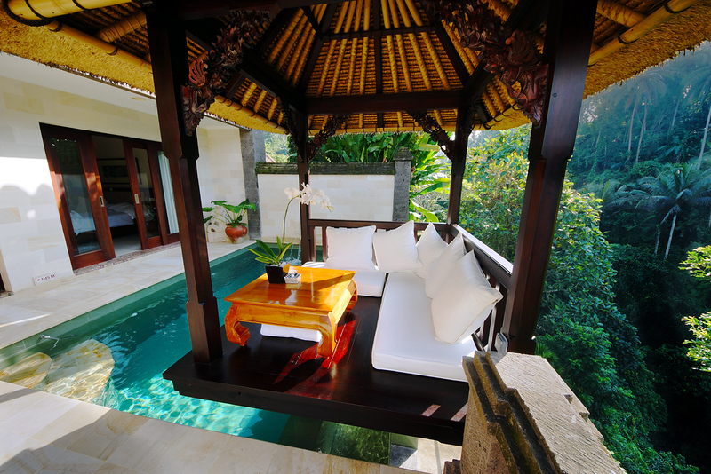 "My Balé platform,   <ul>Viceroy Villas, Ubud, Bali, Indonesia""><br /><span class="