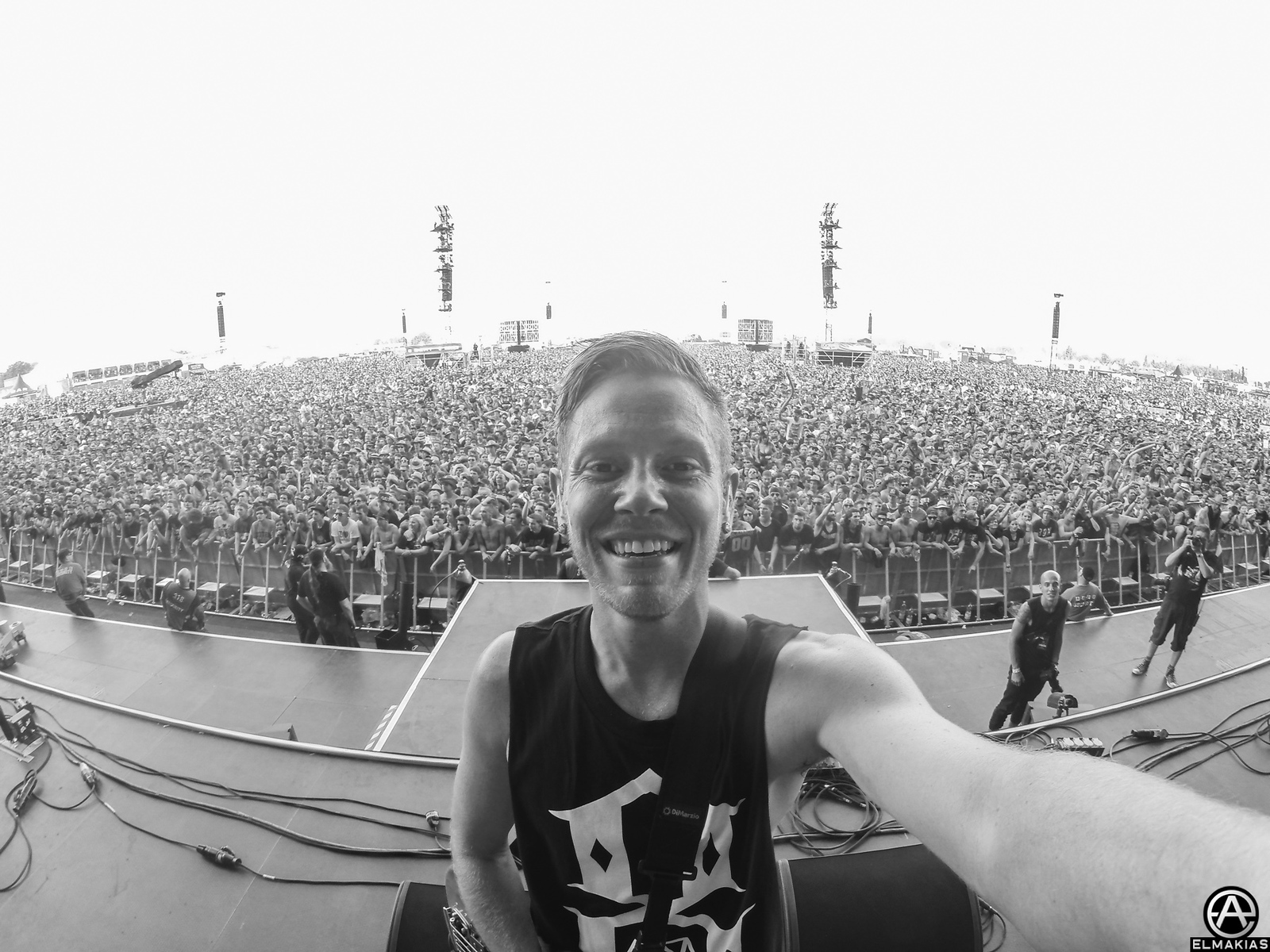 Josh Woodard of A Day To Remember live at Rock AM Ring - European Festivals