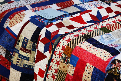 2013 Nov LSHF Golden Needles Guild Veteran Quilts