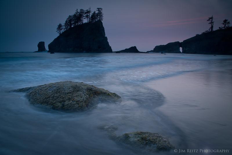 Twilight glow - Second Beach