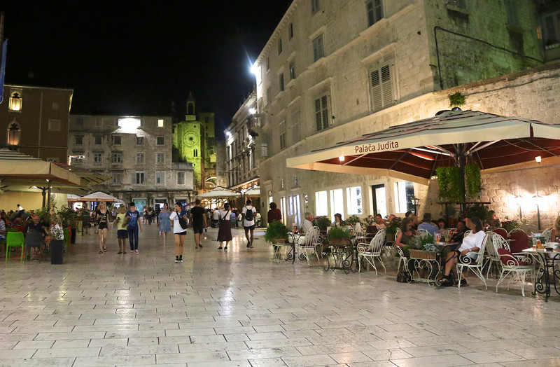 """""""People's Square"""", dates from the 13th century just outside the walls of Diocletian's Palace"""