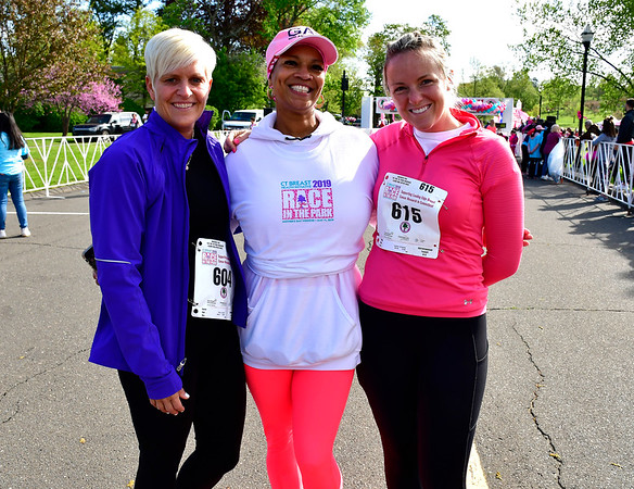 5/11/2019 Mike Orazzi | Staff Tracy Smith, Debrah France and Noelle Stafford during the 16th annual Race in The Park held Saturday in New Britain.