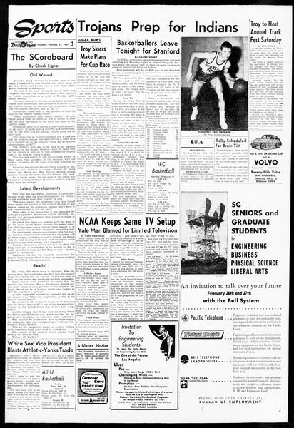 Daily Trojan, Vol. 48, No. 78, February 21, 1957