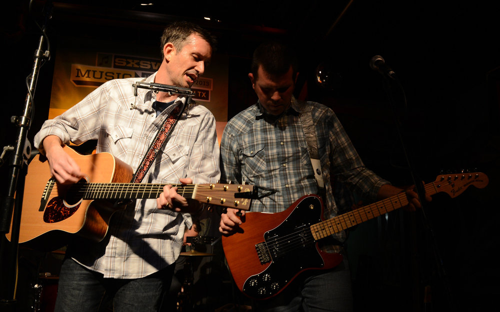 . Ronnie Fauss (L) and Shawn Hannon perform at the Normaltown Showcase during the 2013 SXSW Music, FIlm + Interactive Festival at the Velveeta Room on March 13, 2013 in Austin, Texas.  (Photo by Michael Buckner/Getty Images)