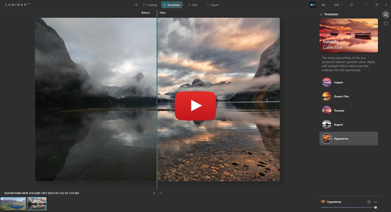 Luminar AI Landscape Processing Video