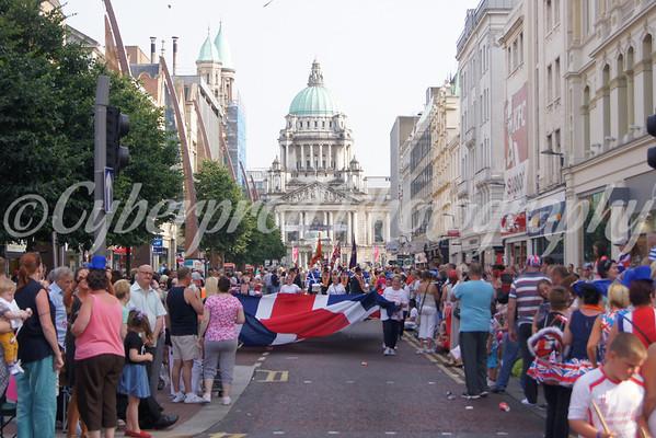 Belfast Twelfth Return Parade Royal Ave.