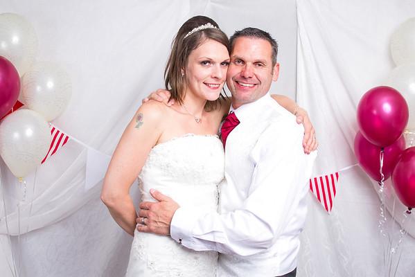 Carla and Steve's wedding photo booth