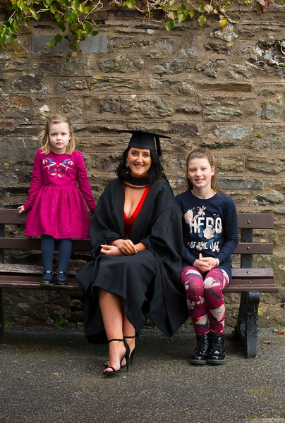 02/11/2017. Waterford Institute of Technology Conferring. Pictured is Aoife Martin Enniscorthy, Co. Wexford who graduated Bachelor of Business Honours, also pictured is her nieces Nia and Lauren Farrell Picture: Patrick Browne.