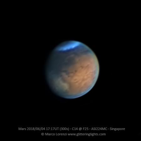 Mars on June 4, 2018