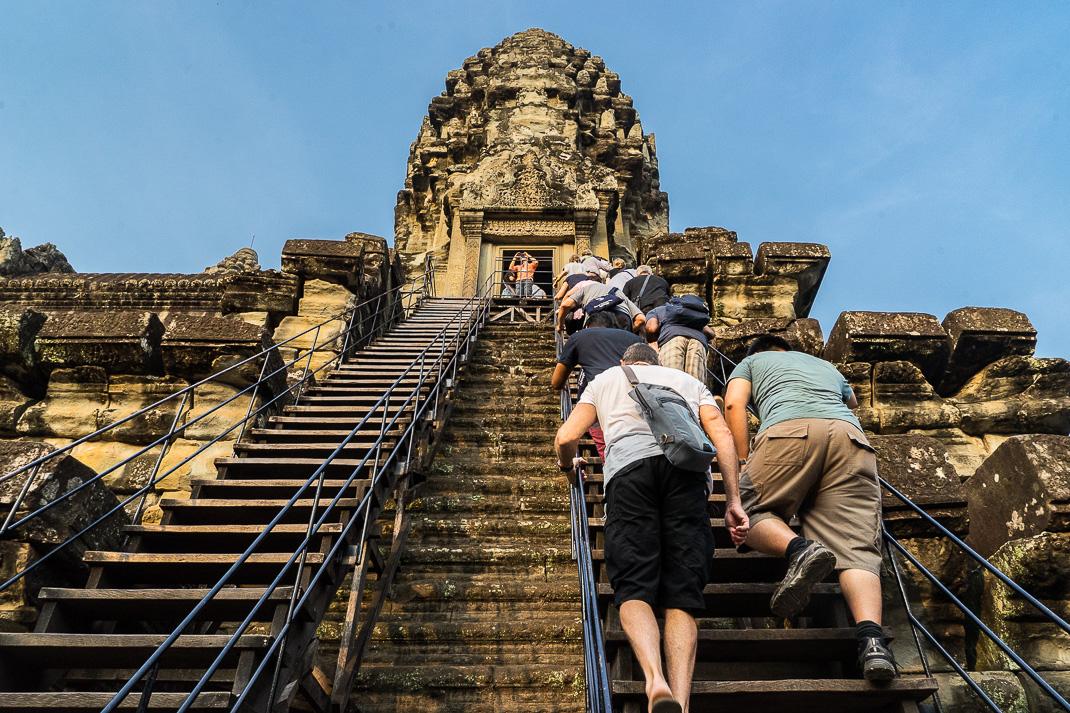 Angkor Wat Stairway Climb