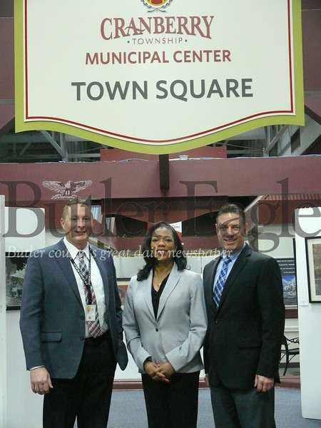 Photo by J.W. Johnson Jr.Representatives from the Philadelphia Regional Census Center visited Cranberry Township this week to kick off the 2020 Census campaign. From left are Stephen Shope, supervisory partnership specialist; Roxanne Wallace, assistant regional census manager; and Dwayne Lehman, partnership specialist.