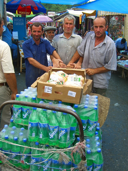 Sprite Bottles on a Cart - Sheki, Azerbaijan