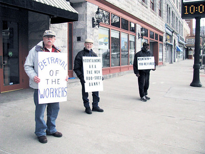 Protest in front of Hoosac Bank