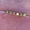 .78-.82ctw Asscher Stud Earrings, in Yellow Gold 19