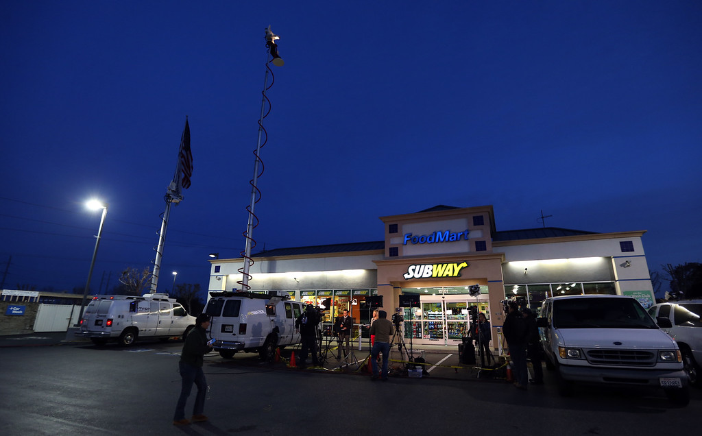 . The Dixon Landing Chevron gas station where a winning Powerball lottery ticket worth $425 Million was sold is seen in Milpitas, Calif., Thursday, Feb. 20, 2014. (Anda Chu/Bay Area News Group)