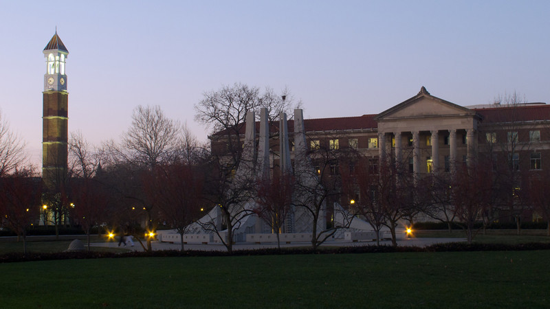 Pre-final distractions from Monday morning - Purdue's big three at sunrise.