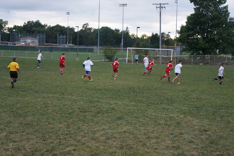 On field action the 10th Annual Alumni Soccer Game at Lutheran West.