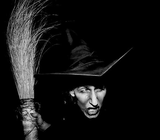 . 1984: Kelly Laughran as Margaret Hamilton as the Wicked Witch of the West, at the Redwood Estates Halloween Party. (Eugene Louie, Mercury News)