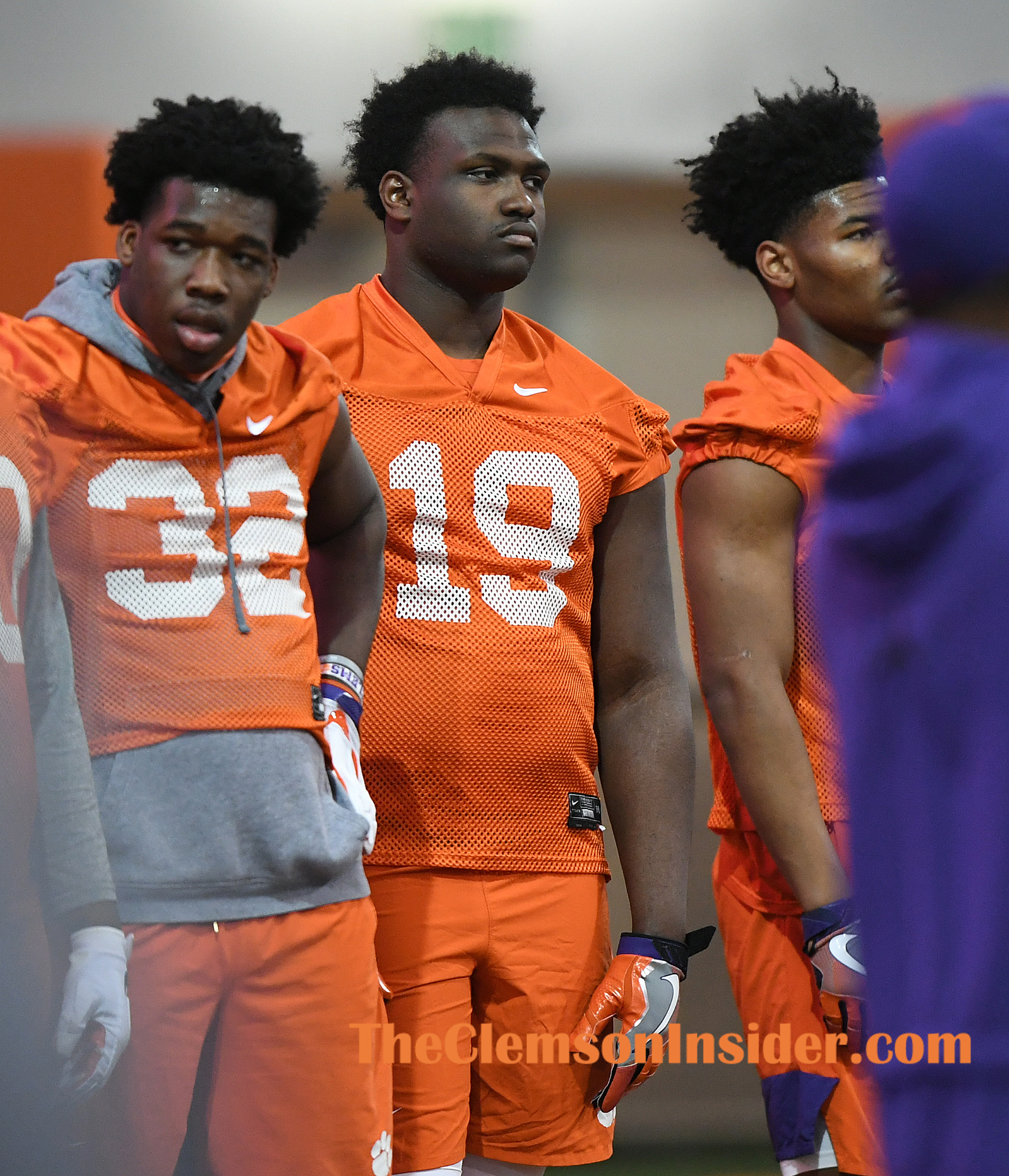 Clemson defensive lineman Demonte Capehart (19) during the Tiger's spring practice Wednesday, February 26, 2020. Bart Boatwright/The Clemson Insider