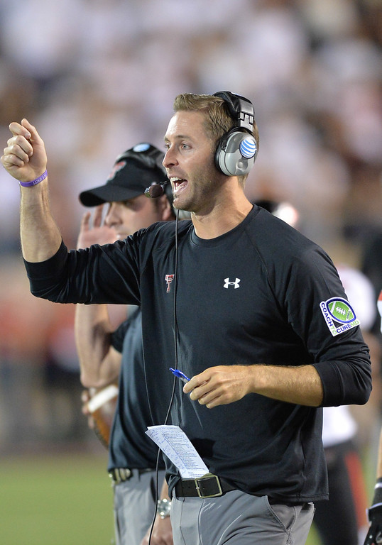 . <b>Kliff Kingsbury</b> <br />Head coach, Texas Tech  (September 21, 2013)  (Photo by John Weast/Getty Images)