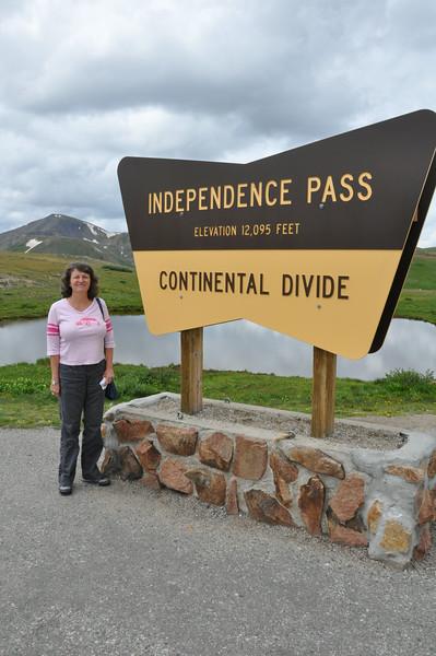 Short break at 12,095' Independence Pass, Colorado.