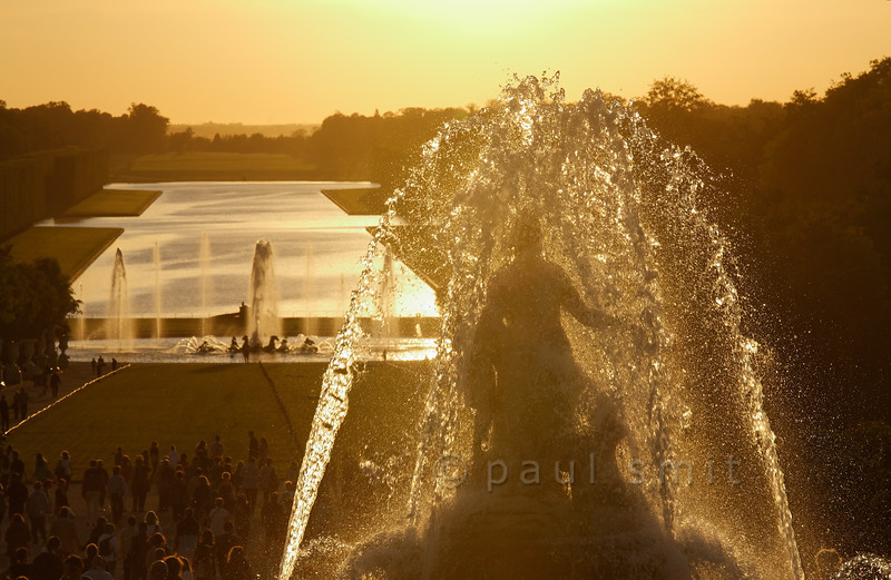 Latona and Neptune fountains in front of the Grand Canal, Versailles.