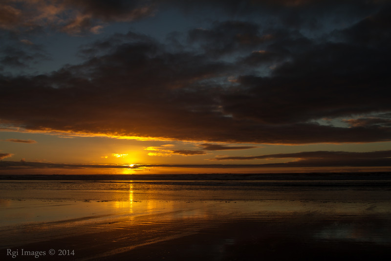 Sunset, Ocean City State Park, WA.
