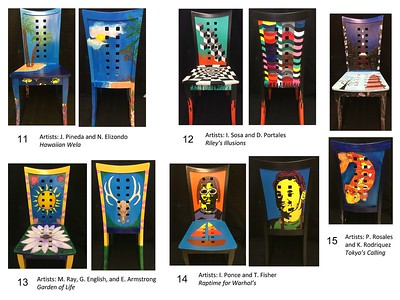 2017 NBHS Painted Chair Project Auction