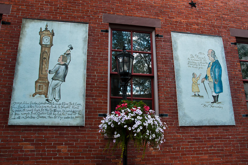 Murals and Flower box, York City, PA