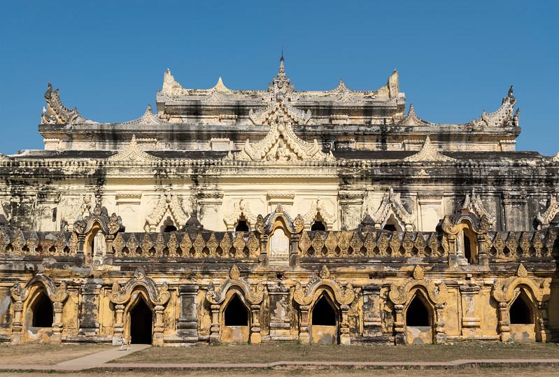 Maha Aungmye Bonzan (Mahar Aung Mye Bon San) Monastery, Inwa near Mandalay, Burma (Myanmar)