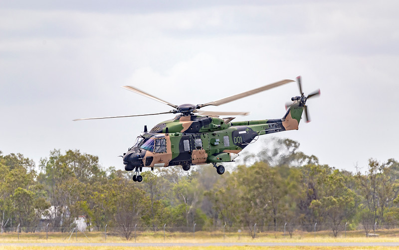 Royal Australian Army MRH90 Taipan A40-001 at Rockhampton Airport 04-02-19